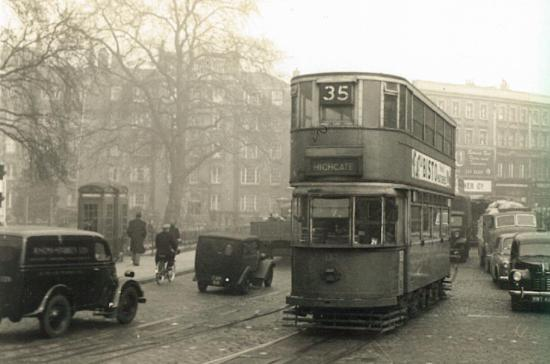 132 route 35 to Highgate, post-war