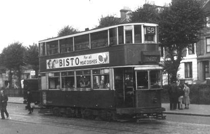 134 route 58 to Victoria @ Lewisham 29-9-1951
