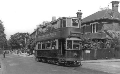 145 on route 56 @ Peckham Rye terminus, post-war