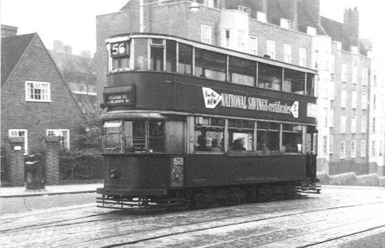 152 route 56 to Peckham Rye, top Dog Kennel Hill 4-10-1951