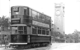 153 route 58 to Blackwall Tnl @ Hornimans, wartime livery
