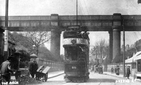 20 to Cemetery under railway bridge Queens Road 1921