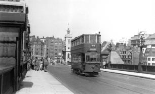 295 route 46 to New X Gate on Southwark Bridge 5-7-1952