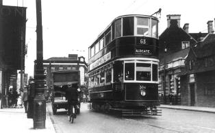 304 route 63 to Aldgate @ Ilford 25-7-1938