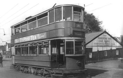 306 route 38 to Embankment @ Harrow Inn, Abbey Wood post-war