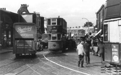 341 route 38 to Abbey Wood @ New X Gate 8-9-1951