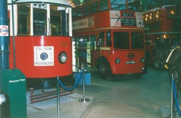 355 Feltham car & trolley1253, LT Museum