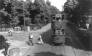 83 route 46 to Beresford Sq 5-7-1952 from front of following tram