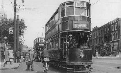 94 route 63 to Ilford Broadway, pre-war