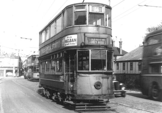 96 route 36 to Abbey Wood, post-war