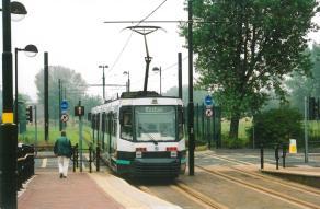 Exchange Quay stn tram to Eccles leaving