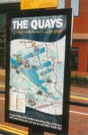 Harbour area map poster with tram route