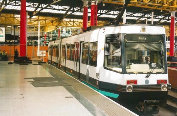 Metrolink 1025 to Bury @ Victoria stn