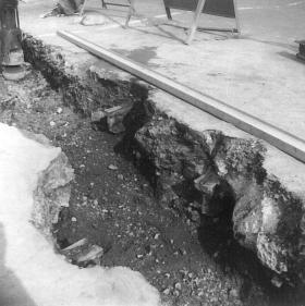 Track in trench, Bexhill-Bulverhyhe Rds 30-9-1975