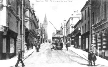 Tram to Silverhill, bottom London Rd, St Leo
