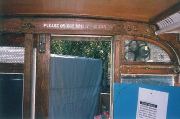 Tramcar boby stripped bulkhead saloon