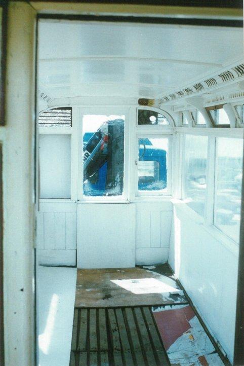 Tramcar body interior 16-7-1995