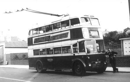 Trolley 2 BDY777 serv 6 to Silverhill @ Ore Red Lake 30-5-1959