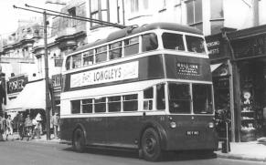 Trolley 40 BDY815 Bull Inn serv in Queens Road