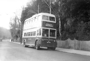 Trolley 41 BDY816 serv to Cooden @ St Helens 3-1-1957