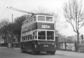 Trolley 44 BDY819 serv 11 to St Helens London Rd 8-4-1953
