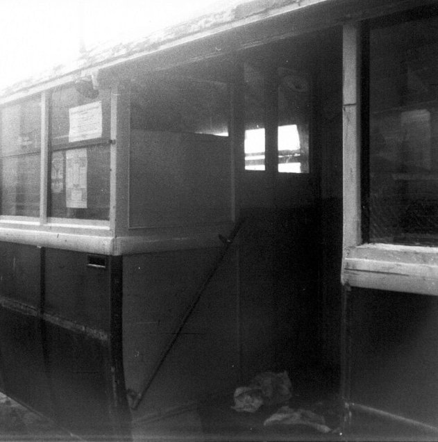 Trolley 45 Silverhill Depot centre entrance c1970