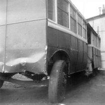 Trolley 45 Silverhill Depot front axle & nearside c1970