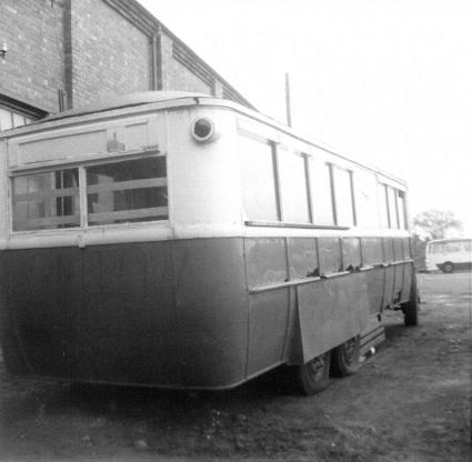 Trolley 45 Silverhill Depot rear & offside c1970