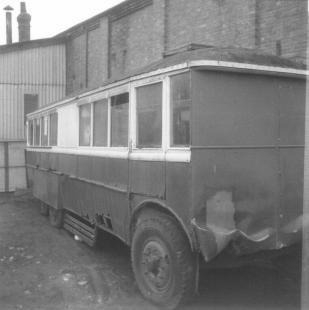 Trolley 45 Silverhill depot c1970 offside & front