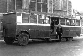 Trolley 45 being removed frm bus stn 8-11-1971