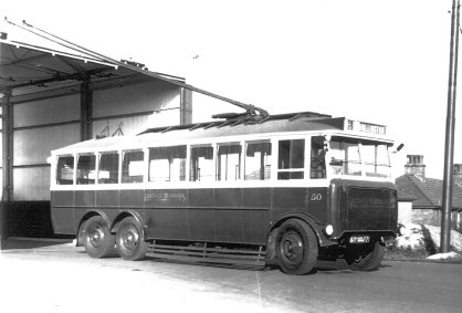 Trolley 50 DY5577 @ depot undated