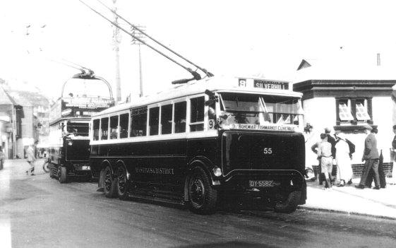Trolley 55 serv 9 Silverhill @ Fishmarket