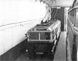 Trolley DY5585 s-d in Silverhill Depot 14-5-1950