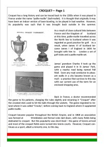 Croquet - Page 1