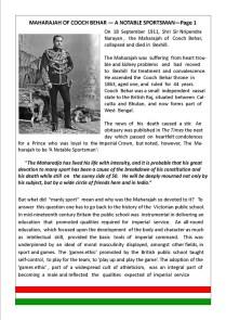 Maharaja of Cooch Behar- Page 1