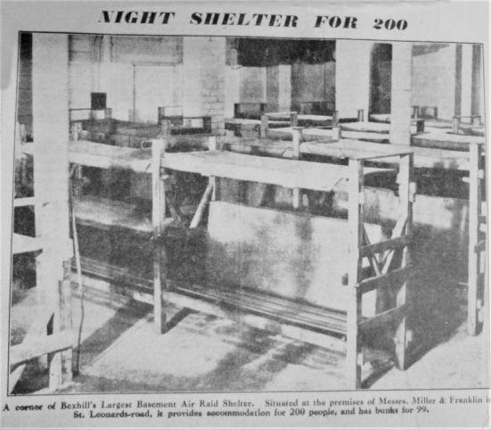Air Raid Shelter - Miller & Franklin basement shelter. May 1941