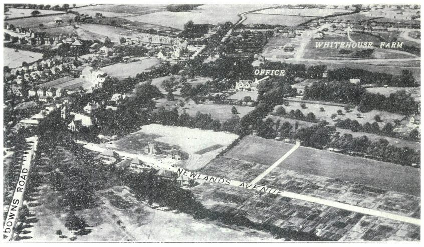General view showing Woodsgate Park Estate with Whitehouse Farm in the background