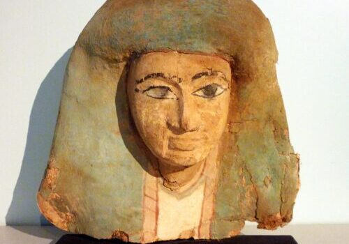 Ancient Egyptian Funerary (Mummy) Mask, from the 19th Dynasty.