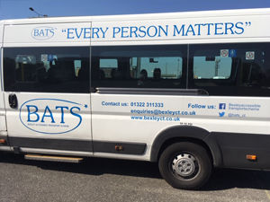938 bus service by BATS Bexley Accessible Transport Service