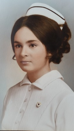 Donna Hays as a nursing student, 1971