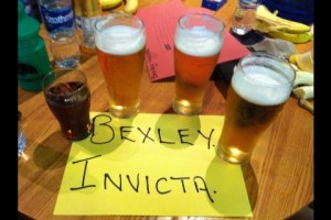 Bexley get in the beers in Wolverhampton