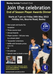 BIFC Dinner 2013 poster