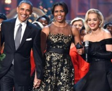 Topping off a successful year with a performance at The White House for President Obama and his family is definitely something to brag about and Rita managed to look appropriate, classic and youthful all at the same time. December 2014.