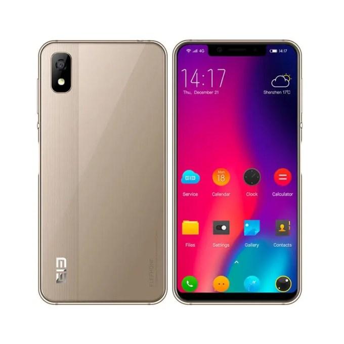 banggood Elephone A4 MTK6739 1.5GHz 4コア GOLD(ゴールド)