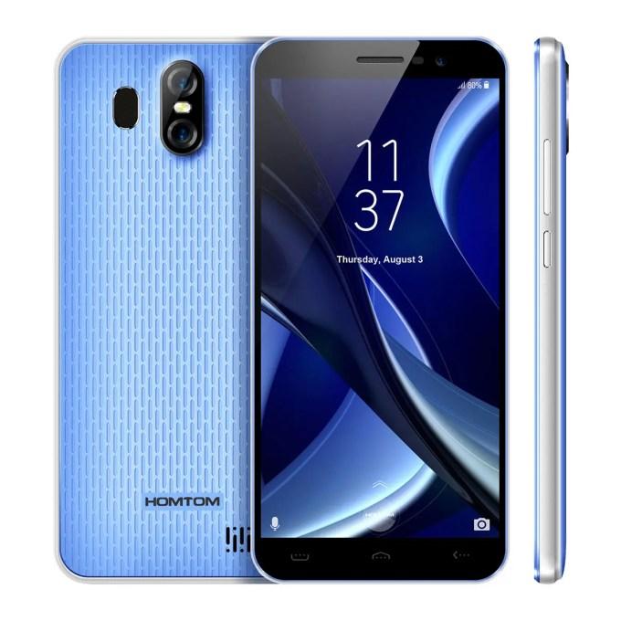banggood homtom s16 3G MTK6580 1.3GHz 4コア BLUE(ブルー)