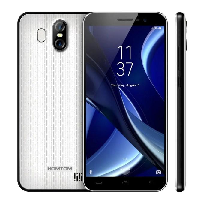 banggood homtom s16 3G MTK6580 1.3GHz 4コア WHITE(ホワイト)