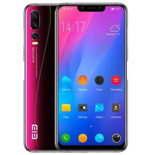 gearbest Elephone A5 MTK6771 2.0GHz 4コア SILVER(シルバー)