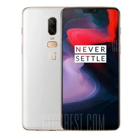 gearbest OnePlus 6 Snapdragon 845 SDM845 2.8GHz 8コア WHITE(ホワイト)