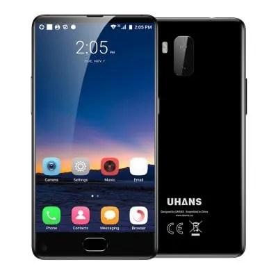 gearbest UHANS MX 3G MTK6580 1.3GHz 4コア BLACK(ブラック)