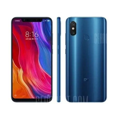 gearbest Xiaomi Mi8 Snapdragon 845 SDM845 2.8GHz 8コア BLUE(ブルー)